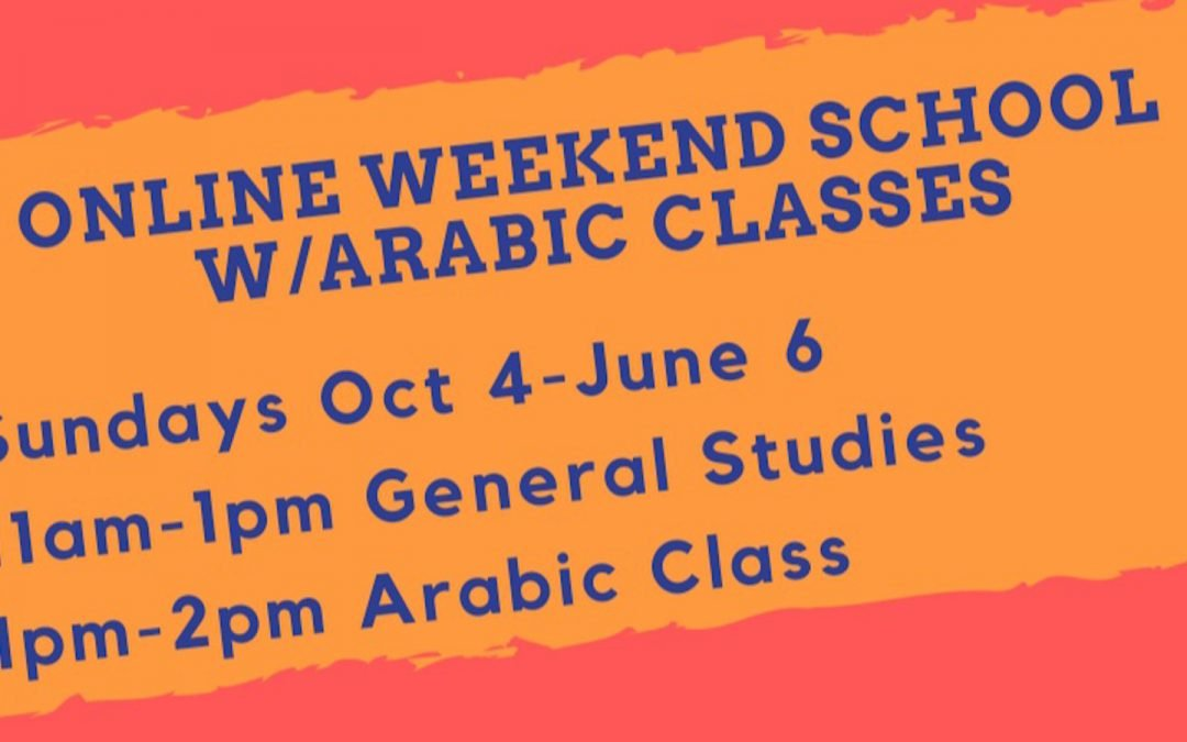 Online Weekend School/Arabic Classes