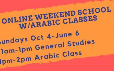 Online Weekend School/Arabic Classes